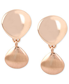 Kenneth Cole New York Rose Gold-Tone Clip-On Drop Earrings