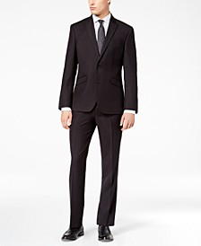 Men's Ready Flex Slim-Fit Stretch Black Tic Suit