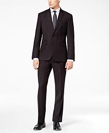 Men's Ready Flex Slim-Fit Stretch Black Tic Suit