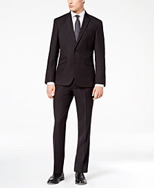 Kenneth Cole Reaction Men's Techni-Cole Slim-Fit Stretch Black Tic Suit