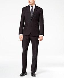 Kenneth Cole Reaction Men's Techni-Cole Slim-Fit Stretch Black Tic Suit