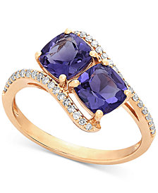 Amethyst (1-2/3 ct. t.w.) & Diamond (1/5 ct. t.w.) Ring in 10k Gold