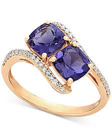 Amethyst (1-2/3 ct. t.w.) & Diamond (1/5 ct. t.w.) Ring in 10k Gold