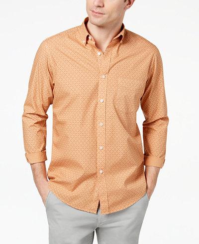 Club Room Men's Geo-Print Shirt, Created for Macy's