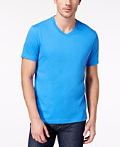 abc32ad84 Club Room Men's Performance V-Neck T-Shirt, Created for Macy's