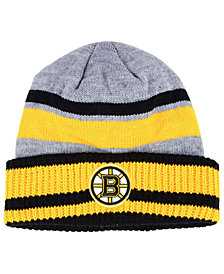 adidas Boston Bruins Heathered Grey Beanie