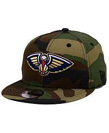 New Era Boys' New Orleans Pelicans Woodland Team 9FIFTY Snapback Cap