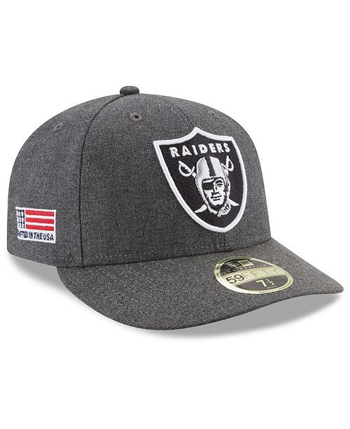 new style 587fd bd34c ... New Era Oakland Raiders Crafted In America Low Profile 59FIFTY Fitted  Cap ...
