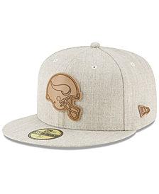New Era Minnesota Vikings Heathered Helmet 59FIFTY Fitted Cap