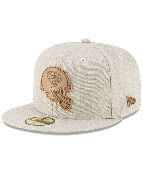 502be6e7aa3 New Era. Jacksonville Jaguars Heathered Helmet 59FIFTY Fitted Cap. Be the  first to Write a Review. main image ...