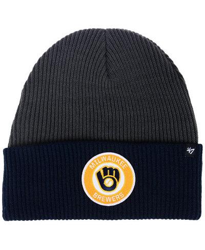 '47 Brand Milwaukee Brewers Ice Block Cuff Knit Hat