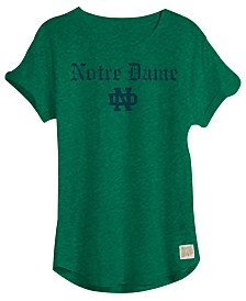 Retro Brand Women's Notre Dame Fighting Irish Slub Rolled Sleeve T-Shirt