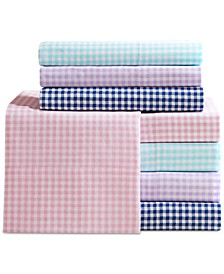 Gingham Cotton Percale 180 Thread Count Sheet Sets