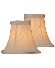 """Lite Source Set of 2 Clip-on 6"""" Shantung Chandelier Shade"""