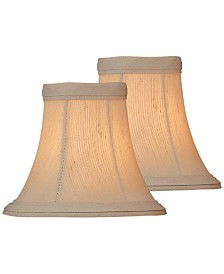 "Lite Source Set of 2 Clip-on 6"" Shantung Chandelier Shade"