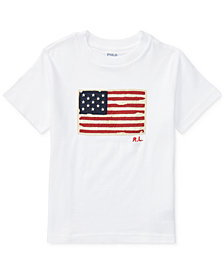 Ralph Lauren Little Boys Graphic Cotton T-Shirt
