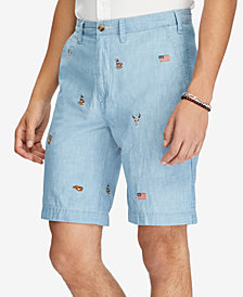 Polo Ralph Lauren Men's Relaxed-Fit Chambray 10' Shorts