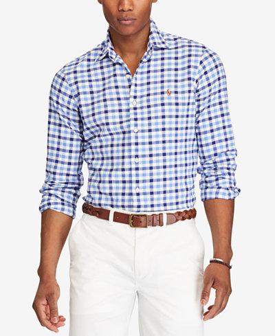 Polo Ralph Lauren Men's Sport Shirt - Casual Button-Down Shirts ...