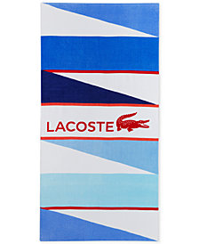 "CLOSEOUT! Lacoste Wind Cotton Logo-Print 36"" x 72"" Beach Towel"