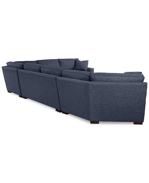 Furniture Carena 4 Pc Fabric Sectional Sofa With Cuddler