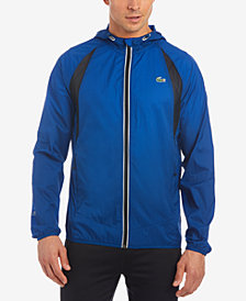 Lacoste Men's Waterproof Textured Ripstop Jacket