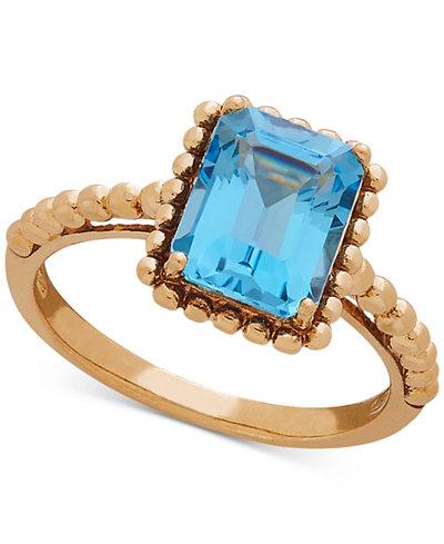 Blue Topaz Beaded Ring (2-5/6 ct. t.w.) in 10k Gold