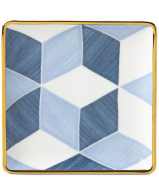 Luca Blue Azzurro Colorblock Tidbit Plate