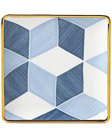 Lenox Luca Blue Azzurro Colorblock Tidbit Plate