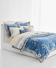 Lauren Ralph Lauren Josephina Cotton Sateen 300-Thread Count Reversible 3-Pc. Floral Full/Queen Duvet Cover Set