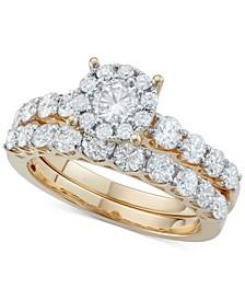 Diamond Bridal Ring Set (2 ct. t.w.) in 14k White Gold or Gold