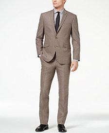 Kenneth Cole Reaction Men's Techni-Cole Slim-Fit Stretch Brown Tic Suit