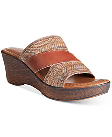 Tuscany by Easy Street Positano Wedge Sandals