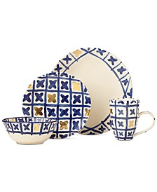 Lenox-Wainwright Pompeii Blu Land 4-Piece Place Setting, Created for Macy's