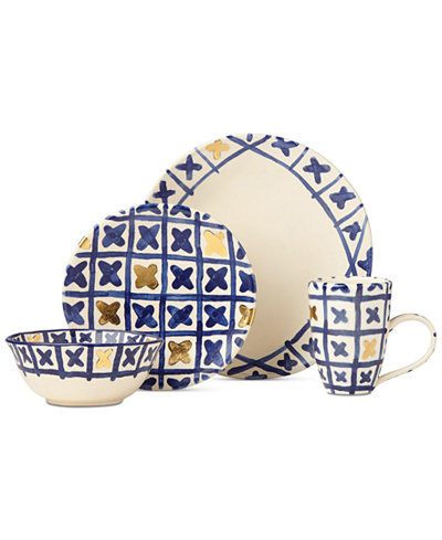 Crafted by Wainwright Pompeii Blu Land 4-Piece Place Setting, Created for Macy's