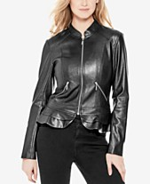 49663db579011 GUESS Kate Faux-Leather Peplum Jacket