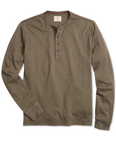 Brooks Brothers Men's Red Fleece Garment-Dyed Henley
