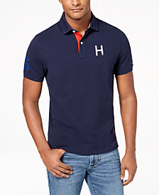 Tommy Hilfiger Men's Big & Tall Flanders H Logo Custom Fit Polo, Created for Macy's