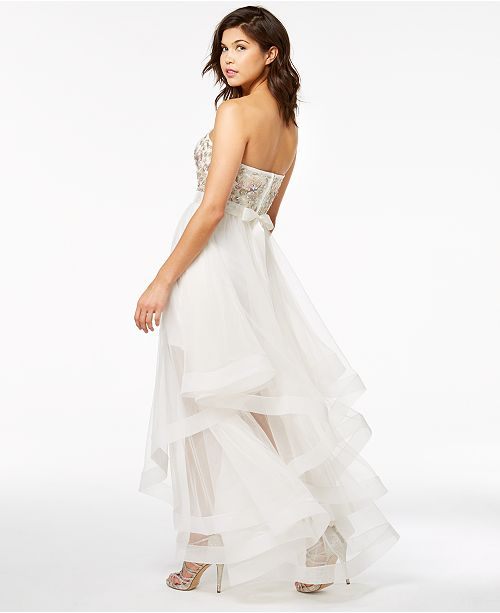 543fdf611 Say Yes to the Prom Juniors' Embellished Strapless Gown, Created for Macy's  ...
