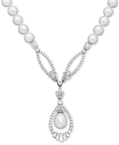 Arabella Cultured Freshwater Pearl (8mm) and Swarovski Zirconia 17