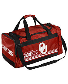 Forever Collectibles Oklahoma Sooners Striped Core Duffle Bag