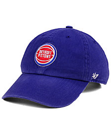 '47 Brand Boys' Detroit Pistons CLEAN UP Cap