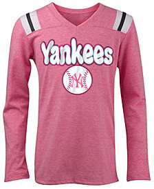 5th & Ocean New York Yankees Long Sleeve Retro T-Shirt, Girls (4-16)