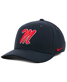 Nike Ole Miss Rebels Anthracite Classic Swoosh Cap