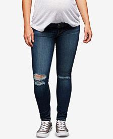 Paige Denim Maternity Destructed Skinny Jeans