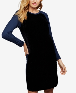 Image of A Pea In The Pod Maternity Colorblocked Dress