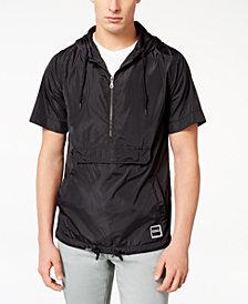Ezekiel Men's Half-Zip Short-Sleeve Hooded Windbreaker