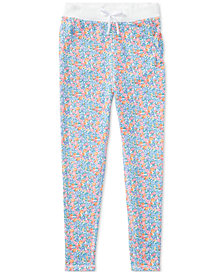 Ralph Lauren Floral-Print Atlantic Terry Jogger Sweatpants, Big Girls