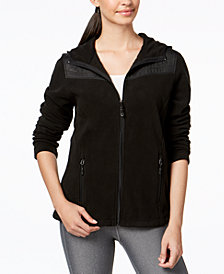 Ideology Mixed-Media Hooded Jacket, Created for Macy's