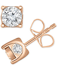 TruMiracle® Diamond Stud Earrings (3/8 ct. t.w.) in 14k Gold, White Gold or Rose Gold
