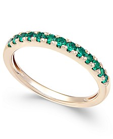 Emerald (1/2 ct. t.w.) Band in 14k Gold (Also Available in Sapphire)